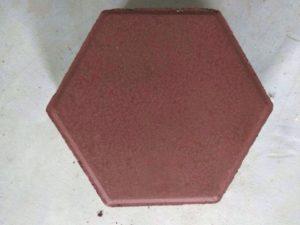 hexagonal red interlocking block