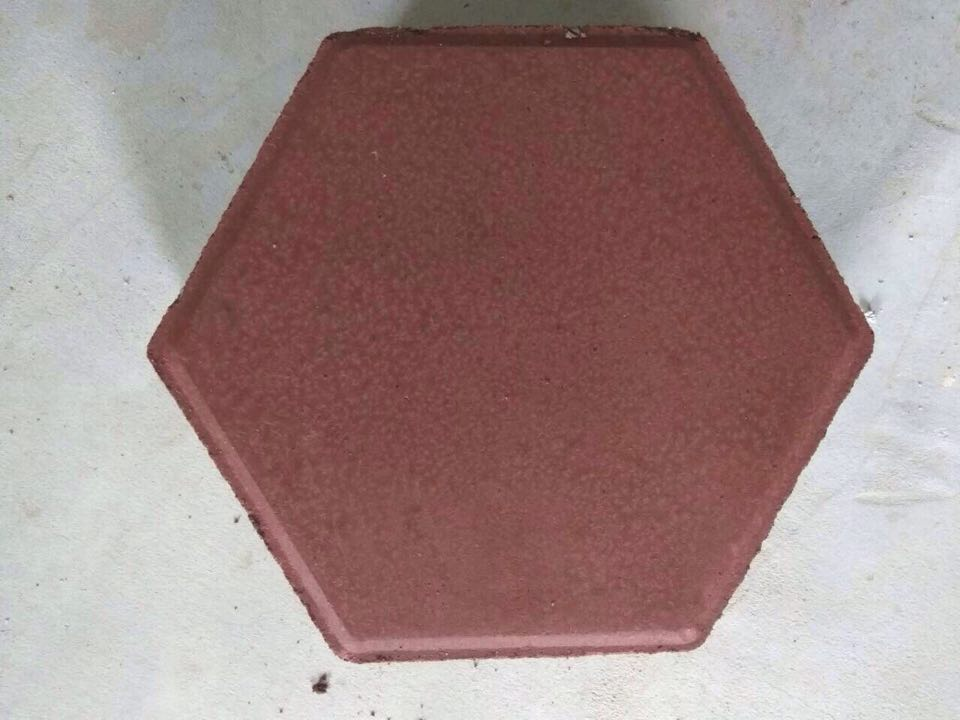 hexagonal red interlocking block